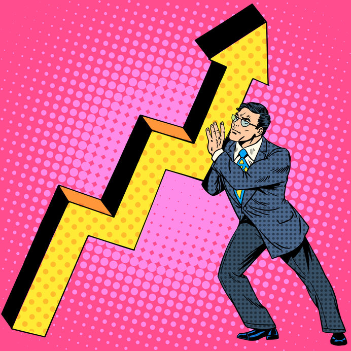 Businessman raises growth chart